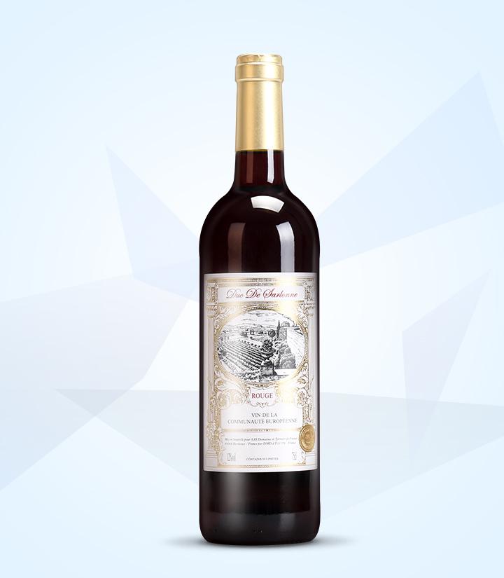 12°法国沙龙公爵干红葡萄酒750ml 瓶